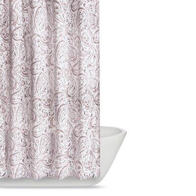 Newburgh Paisley Watercolor Shower Curtain Color: Blush Pink