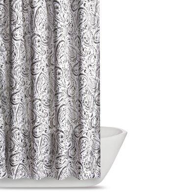 Newburgh Paisley Watercolor Shower Curtain Color: Grey