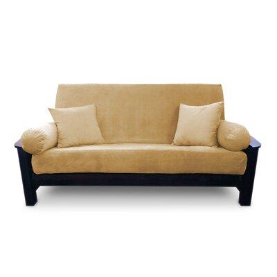 Simoes Solid Zipper Box Cushion Futon Slipcover Upholstery: Caramel