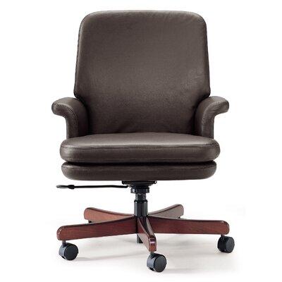 Legislator Executive Chair Upholstery Color: Onyx Canter, Base Finish: Medium Cherry