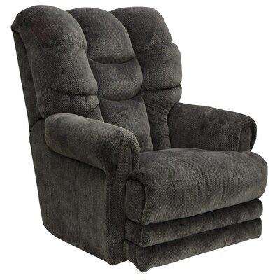 Plush Manual Recliner Upholstery: Slate