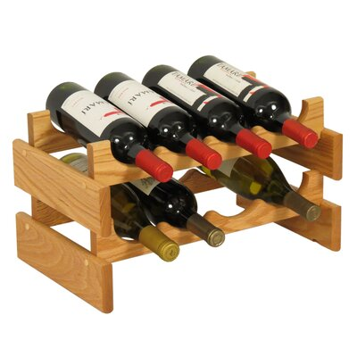 Dakota 8 Bottle Tabletop Wine Rack Finish: Black