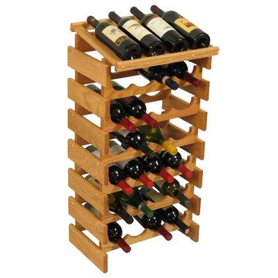 Dakota 28 Bottle Floor Wine Rack Finish: Black