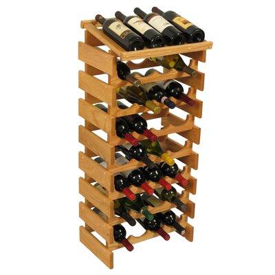 Dakota 32 Bottle Floor Wine Rack Finish: Black