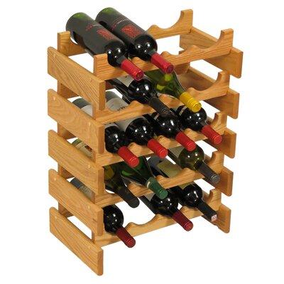 Dakota 20 Bottle Floor Wine Rack Finish: Black