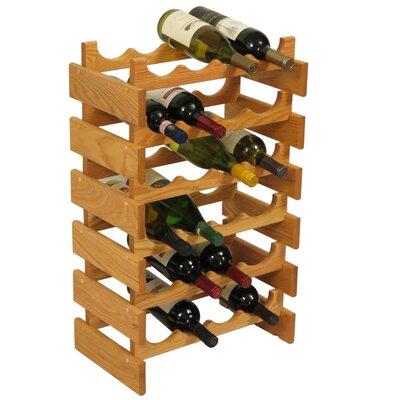 Dakota 24 Bottle Floor Wine Rack Finish: Black