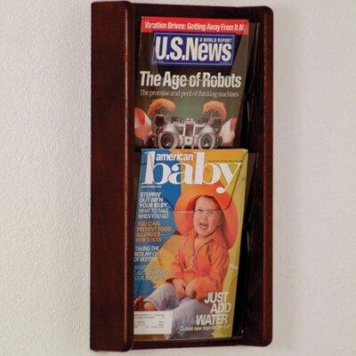 2 Pocket Wall Display Wood Color: Dark Red Mahogany