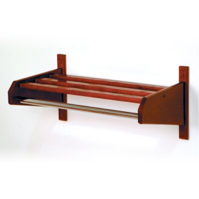 Hat and Coat Rack with Bar Finish: Dark Red Mahogany, Size: 24""