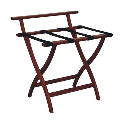 Wooden Mallet Wall Saver Contour Leg Luggage Rack with Backing