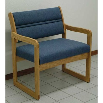 Valley Bariatric Guest Chair Wood Finish: Medium Oak, Seat Color: Watercolor Rose