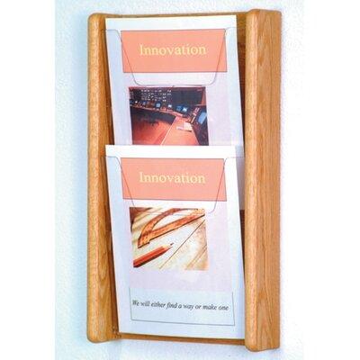 2 Pocket Wall Display Wood Color: Light Oak