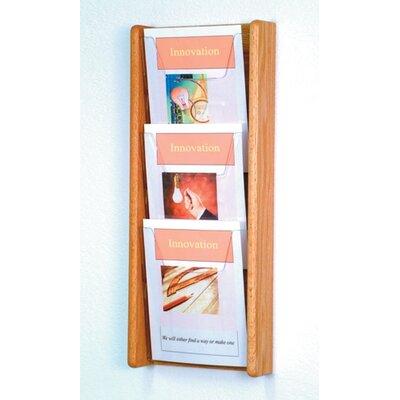 3 Pocket Wall Display Wood Color: Light Oak