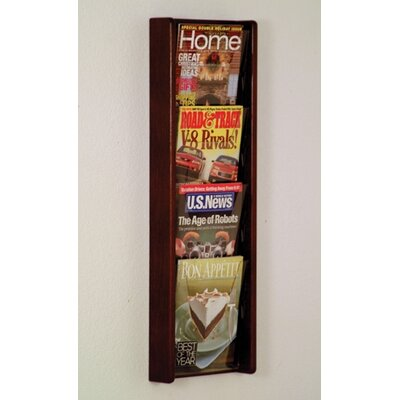 Bernetta 4 Pocket Wall Display Wood Color: Dark Red Mahogany