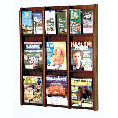 9 Magazine / 18 Brochure Wall Display Wood Color: Dark Red Mahogany