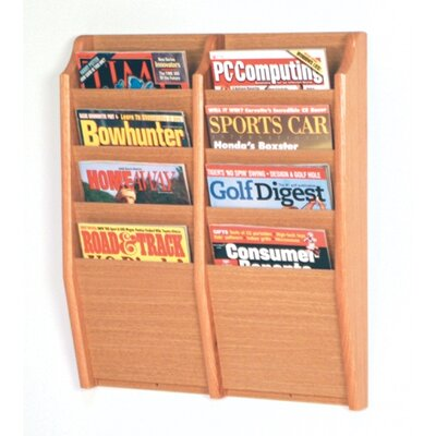 Dennise 8 Pocket Wall Mount Magazine Rack Wood Color: Light Oak