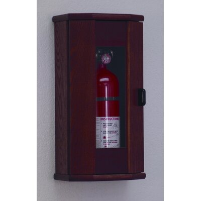 Fire Extinguisher Cabinet with Acrylic Door Panel Finish: Mahogany, Capacity: 5 lbs