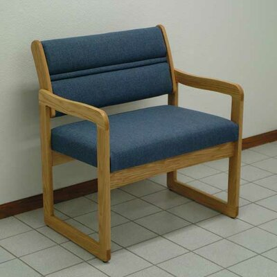 Valley Bariatric Guest Chair Wood Finish: Light Oak, Fabric: Foliage Green, Frame Type: Straight Leg