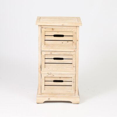 Sheryll Natural 3 Drawer Accent Cabinet