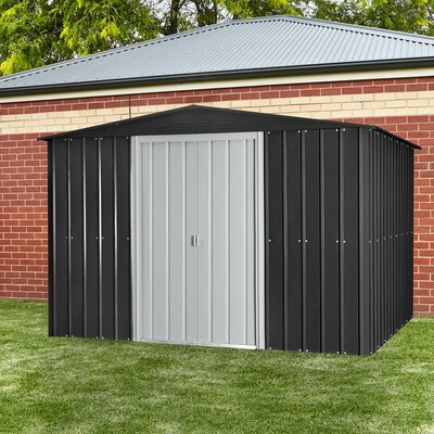 9 ft. 8 in. W x 7 ft. 9 in. D Metal Storage Shed