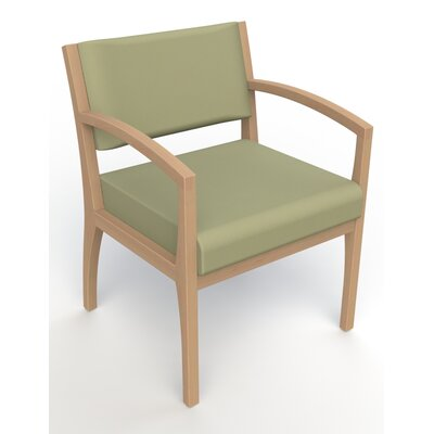 Itasca Wall Guard Back Leg Guest Chair Arm Options: Straight, Seat Color: Avant Sage, Finish: Fawn