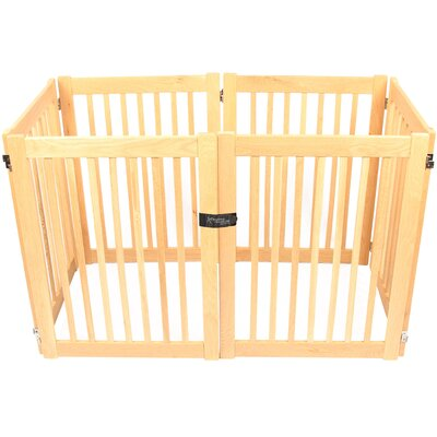 "Amish Handcrafted 32"" Outdoor Pet Gate Size: 6 Panel"