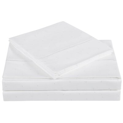 Classic 310 Thread Count Cotton Sheet Set Color: Bright White, Size: Full