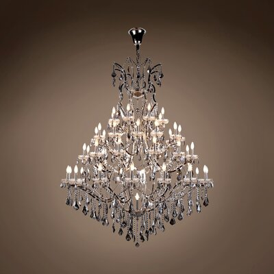 Chantrell 49-Light Chandelier Finish: Polished Nickel, Crystal Color: Smoke