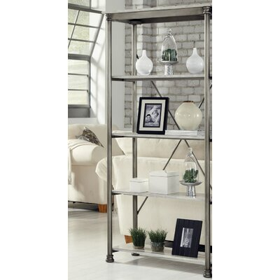 Munford Etagere Bookcase Color: Marble