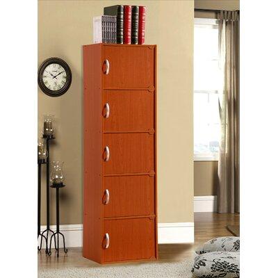 5 Door Storage Accent Cabinet Color: Cherry