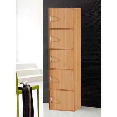 5 Door Storage Accent Cabinet Color: Beech