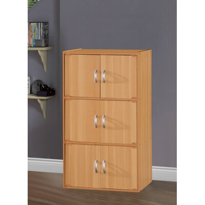6 Door Storage Accent Cabinet Color: Beech