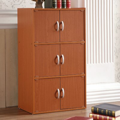 6 Door Storage Accent Cabinet Color: Cherry