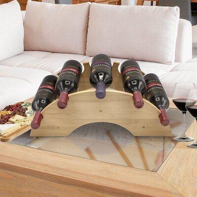 Zayas Bamboo 5 Bottle Tabletop Wine Rack