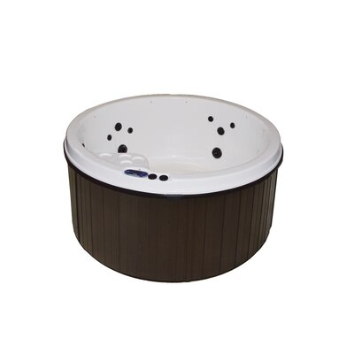 5-Person 20-Jet Plug and Play Spa with LED Lights Finish: White/Mahogany