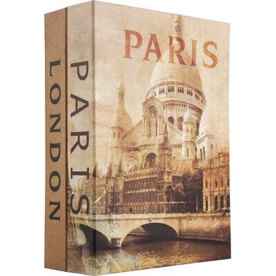 Paris and London Cash Box with Key Lock