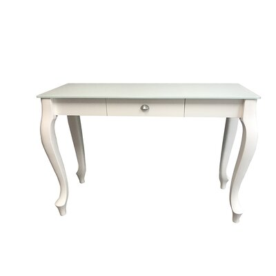 Retro Console Table Color: White