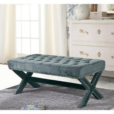 Lovell Upholstered Bench Upholstery: Slate Blue