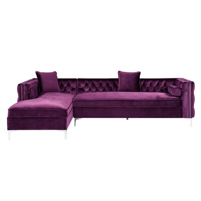 Kaufman Sectional Upholstery: Navy, Orientation: Right Hand Facing