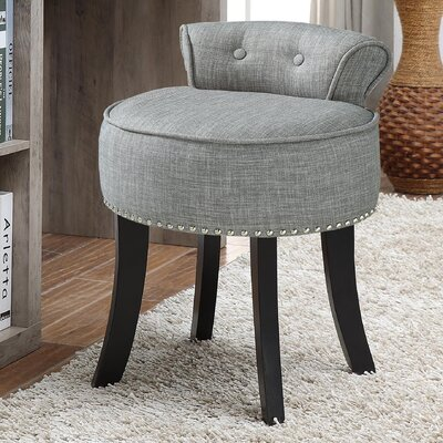 Emest Vanity Stool Color: Gray