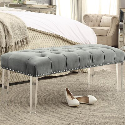 Brendley Upholstered Bench Upholstery: Gray