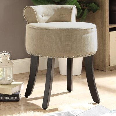 Emest Vanity Stool Color: Beige