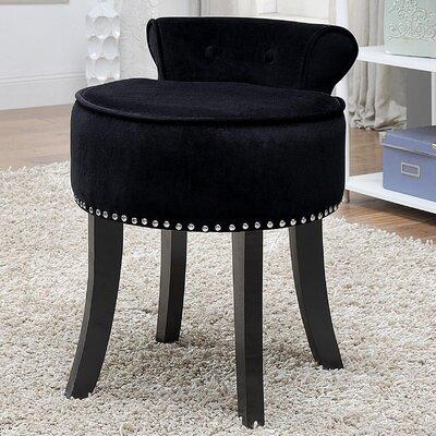 Emest Vanity Stool Color: Black