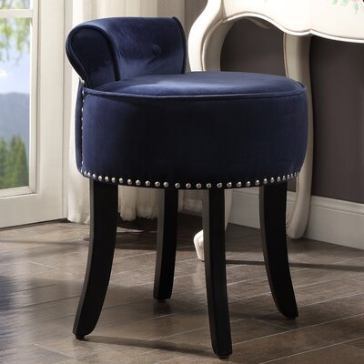 Emest Vanity Stool Color: Navy