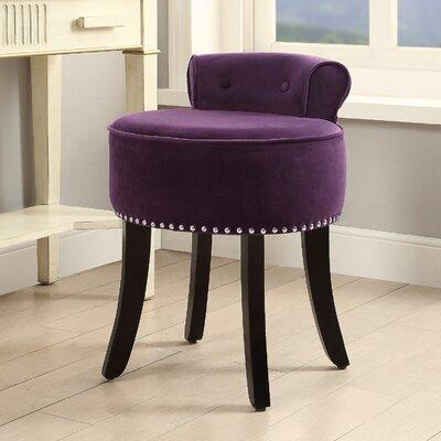 Emest Vanity Stool Color: Purple