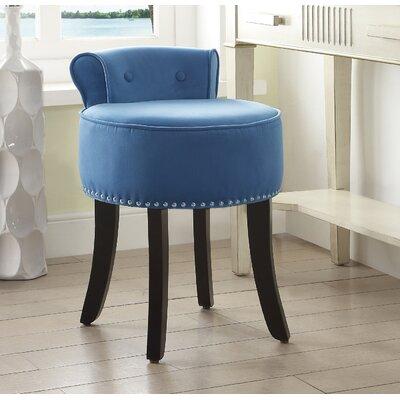 Emest Vanity Stool Color: Slate Blue