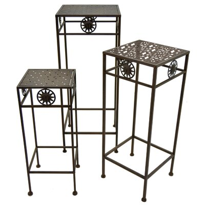 Begonia Square 3 Piece Nesting Plant Stand Set