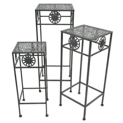 Alpsville Square 3 Piece Nesting Plant Stand Set