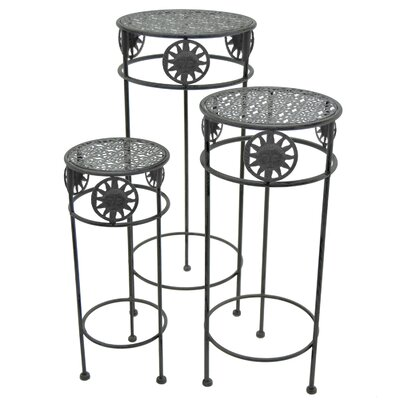 Aydan Round 3 Piece Nesting Plant Stand Set