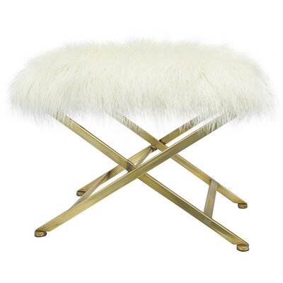 Isla Upholstered Bench Color: Gold