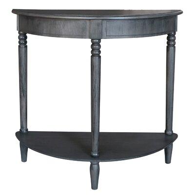 Half-Circle Wood Console Table